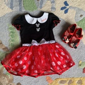 Disney Minnie Mouse Dress. Worn 1x EUC size 2T